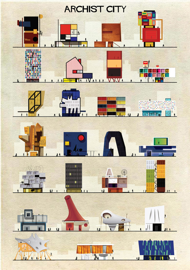 If 27 famous artists designed buildings co design for Popular architectural styles