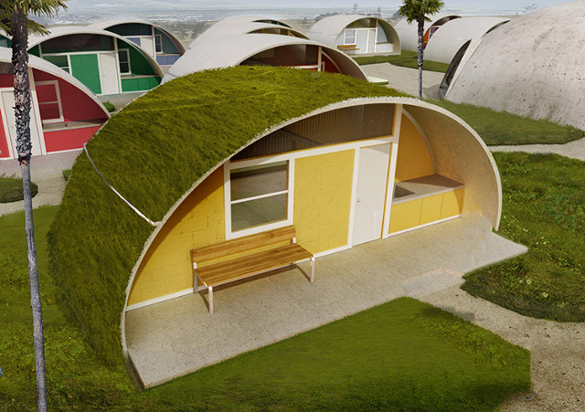 These inflatable disaster relief domes are blown from for Cost of building a home in colorado