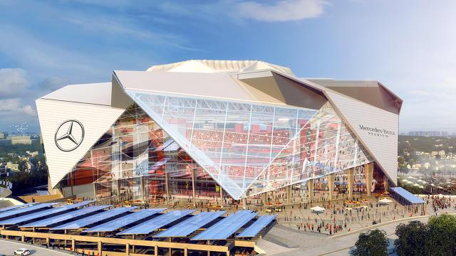 The atlanta falcons 39 s new stadium looks amazing co for Mercedes benz stadium layout