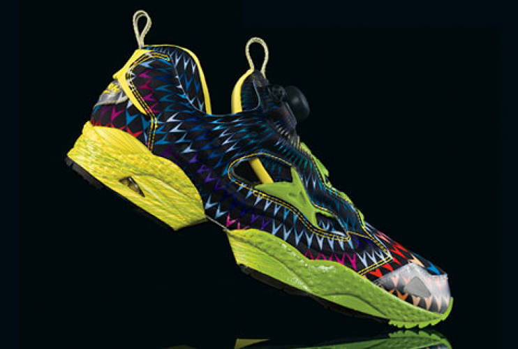 <p> Another image of the Reebok Emoretion and Struccess limited-edition sneakers, 2008.  </p>