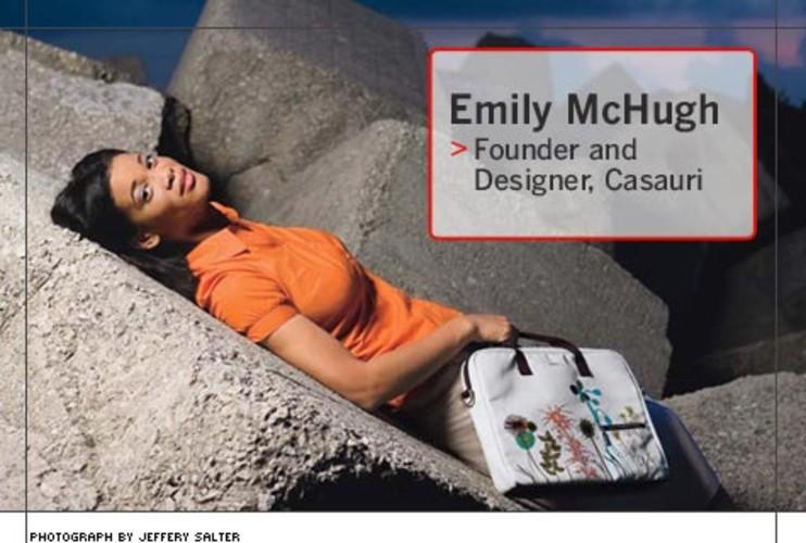 <p> Emily McHugh, 32, is a bag designer whose nine-year-old company is one of only a handful selling TSA-compliant laptop bags that let passengers pass through airport security without removing computers from their cases. They're available at boutiques such as Fred Segal and Flight 001.  </p>