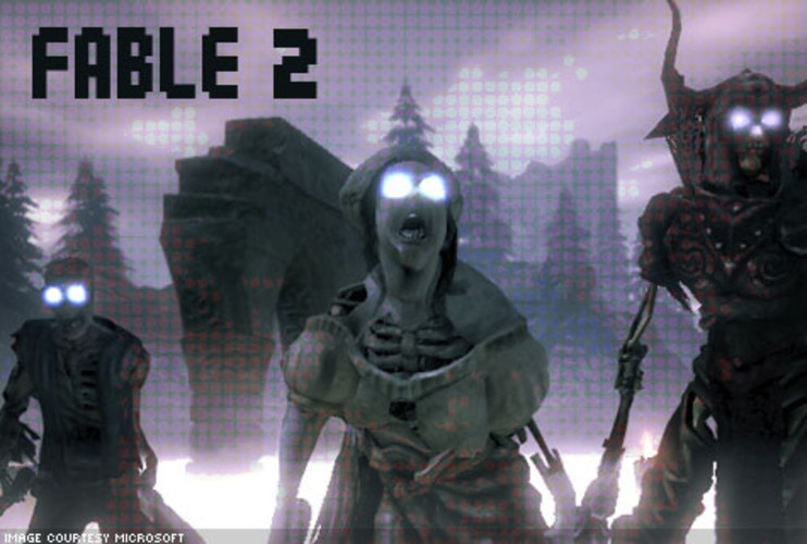 <p>Fable 2 is set in the world of Albion 500 years after the original. After brief origin story, players craft their new hero. While it may not seem like a big deal, every decision affects the world's perception of your hero and the future of the world. Beyond the main quest, Albion is a pretty lively place. There's treasure to be found, properties to purchase, townspeople to save, and baddies to dispatch. But all that questing can get lonely. The solution: your hero can bring along a buddy along in co-op play in addition to his faithful canine companion. </p> <p>Price: $59.99 Xbox 360<br>  More Info: <a href=&quot;http://www.lionhead.com/fable2/Default.aspx&quot; target=&quot;_new&quot;>Fable II</a></br></p>