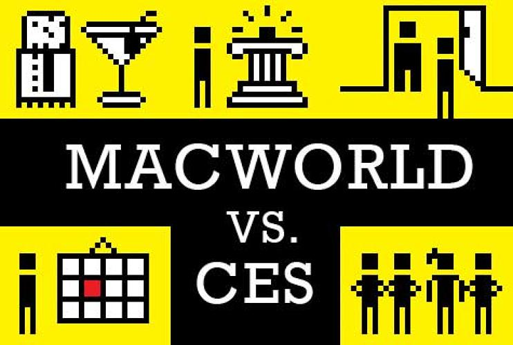 <p>To the dismay of many, 2009's Apple Macworld Expo and the International Consumer Electronics Show yet again take place at the same time. So where's a geek to go? To both, if you're truly dedicated. Here's a primer on the pair.</p>