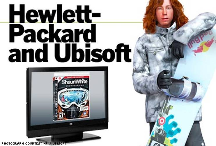 <p>White is also sponsored by HP. This makes the company's flat- panel TVs great for showcasing the virtual runs created by Ubisoft in its Shaun White Snowboarding video game -- illustrating White's ability to cross-market his brand. </p>