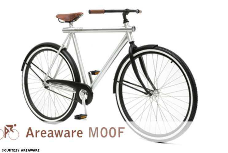 <p> The Moof is a solid daily driver with panache. At only 28 pounds, it's lighter than most commuter bikes, thanks to its 6061 aluminum frame, which is made of a suppler alloy than most other bikes. It's also powder-coated in a lengthy application involving lots of electricity. The results are worth it: Power-coated frames are more durable and scratch-resistant than paint, and they look the same after 10 years as they do after 10 days.  </p> <p> <em>For:</em> Around town <br /> <em>Price:</em> $600<br /> <em>From:</em> <a href=&quot;http://www.areaware.com/proddetail.asp?prod=cyml&amp;CatID=0&amp;subCatID=0&quot; target=&quot;_new&quot;>Areaware</a> </p>
