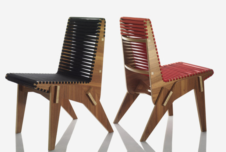 <p> Using FSC-certified plywood from Bolivia, Miller designed a chair whose components can be shipped flat and dry-assembled with a rubber mallet.  </p>
