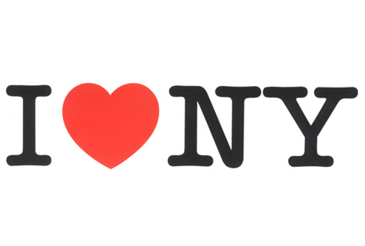 <p> I Heart NY<br /> A simple logo, created to 1973 for the New York State Department of Commerce to promote tourism in a city downtrodden by the social and economic woes of the 1970's, Glaser's logo has become a symbol of pride for New York residents and possibly one of the most imitated graphics of all time.</p>