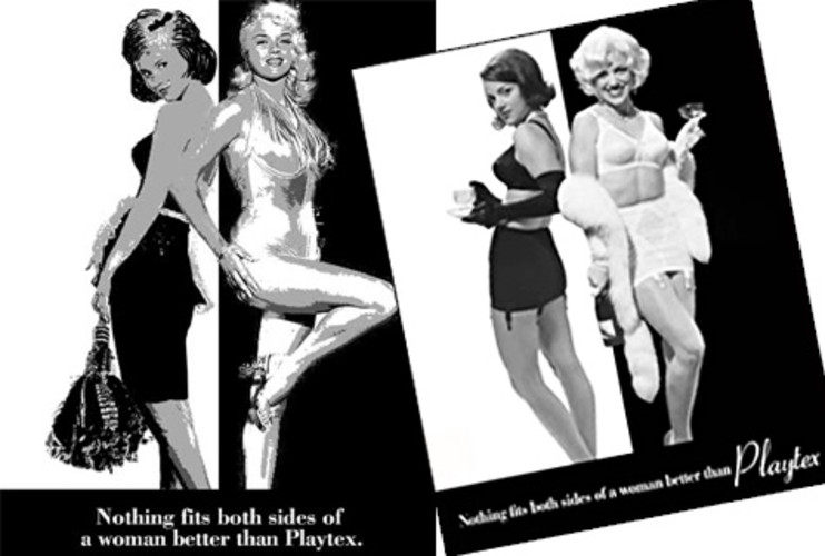 <p><strong>MAD WORLD:</strong> Playtex comes to Sterling Cooper in hopes that they can spice up the company's prudish image to compete with Maidenform's fantasy-oriented ads. The pitch: A sexy, albeit chauvinistic, Jackie/Marilyn campaign, in which Sterling Cooper stresses that every woman wants to be Jackie Kennedy or Marilyn Monroe, much to Peggy's chagrin. The Playtex suits decide to stick with their conservative image, but take the men--plus Peggy--to a strip club for their hard work. <br />Photo: © 2009 American Movie Classics Company LLC. All rights reserved. </p>