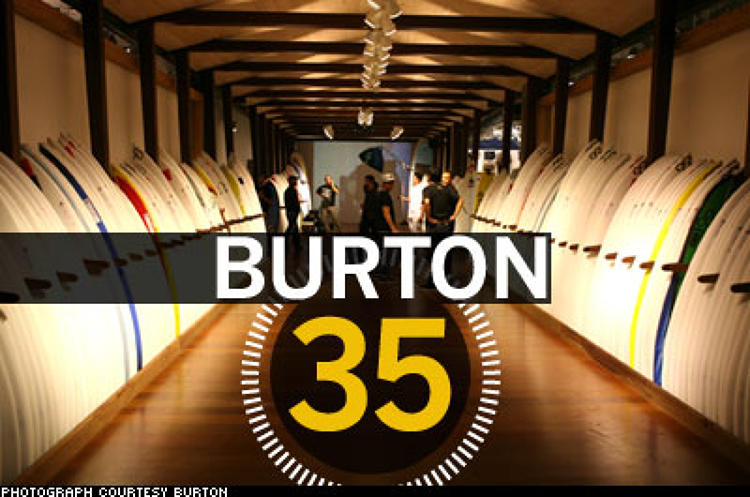 <p> The earth is warming. The snow is vanishing. So Burton snowboards now owns ... a surfboard manufacturer, Channel Islands. A year after that 2006 purchase, Burton opened a 11,500-square-foot combo surf, skate, and snow mega-store on L.A.'s Melrose Avenue, part of a strategy for breaking down the vertical boundaries that traditionally separated the categories--and for rolling out product year-round in the process. And roll it out Burton does: some 45,000 different items, each replaced annually. We're not sure if it offers a Greenland long board yet, but for Burton, there is no bad weather.  </p>