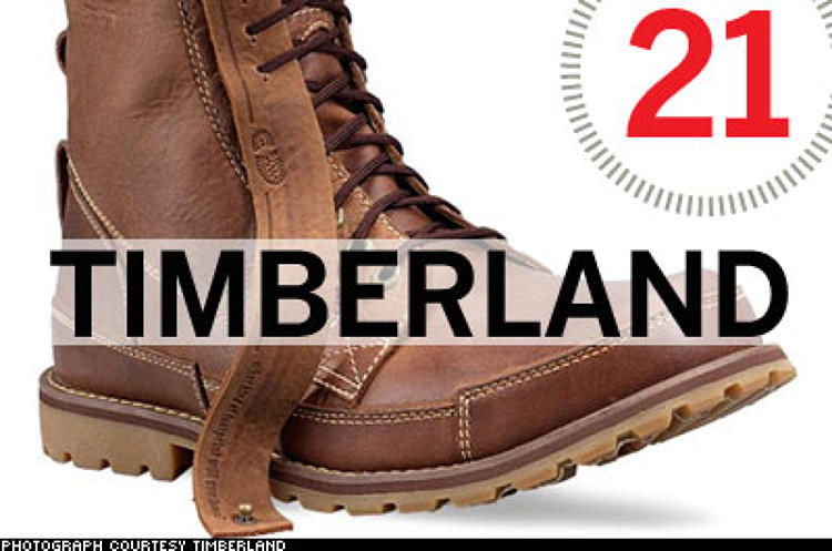 <p> Rather than just going carbon neutral (which it aims to do by 2010) or using sustainable materials (which it does in everything from its products and packaging to its factories and stores), New Hampshire-based Timberland has taken the bully pulpit in its environmental efforts, leading the way to greater responsibility even as it struggles financially. The company aims to influence its consumers' and employees' behavior with big benefits for hybrid-car buyers, community-service incentives, green scorecards on its products, a green ad campaign ... the list goes on.  </p> <p> <a href=&quot;/fast50_08/timberland.html&quot; target=&quot;_new&quot; title=&quot;Timberland&quot;>Read more about Timberland</a>  </p>