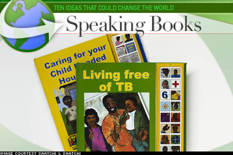 <p> By using an adaptation of a children's book technology – the talking book – the South African Depression and Anxiety Group aims to surmount the barrier of illiteracy. Editions of each of the books are &quot;read&quot; by local celebrities in Zulu, Sotho, Pedi, French, Swahili, and English so that patients and care workers can know how to identify illnesses, where to go for treatment and how to take their medication – even if they're unable to read. </p>