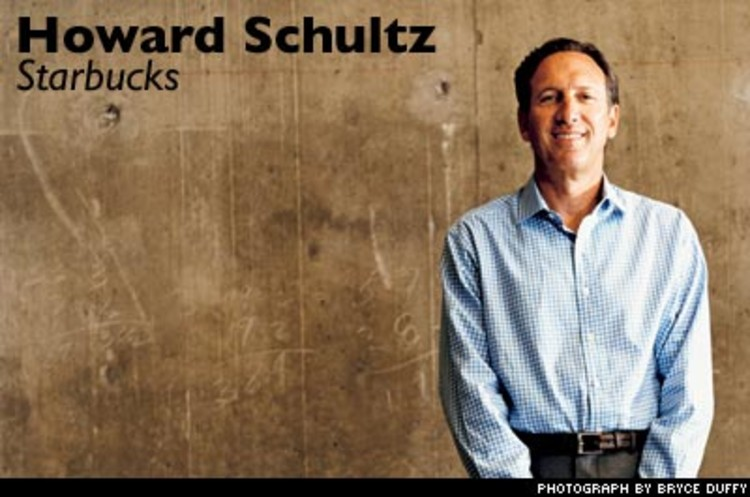 <p>Schultz has spread the <a href=&quot;http://www.fastcompany.com/magazine/84/starbucks_1.html&quot;>Starbucks' brand</a> farther than anyone could have imagined, putting it in coffee shops and grocery stores worldwide. In short, he's changed how we approach our morning coffee -- rather, our caf&eacute; lattes.</p>