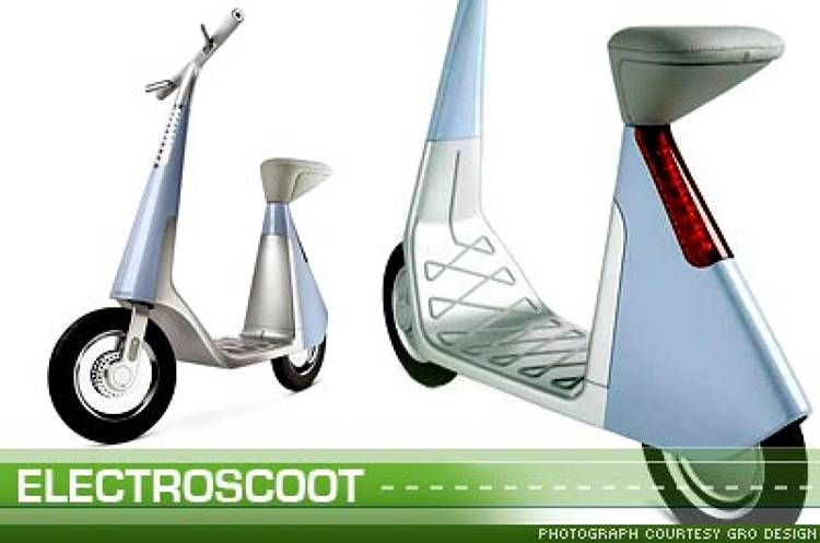 <p>With no parking costs and no helmet required, the <a href=&quot;http://www.electroscoot.com&quot; >ElectroScoot</a> is similar to a bicycle. And it can run roughly 40 to 50 km on 50 cents, depending on the weight of the user and the environment in which the product is used.</p>