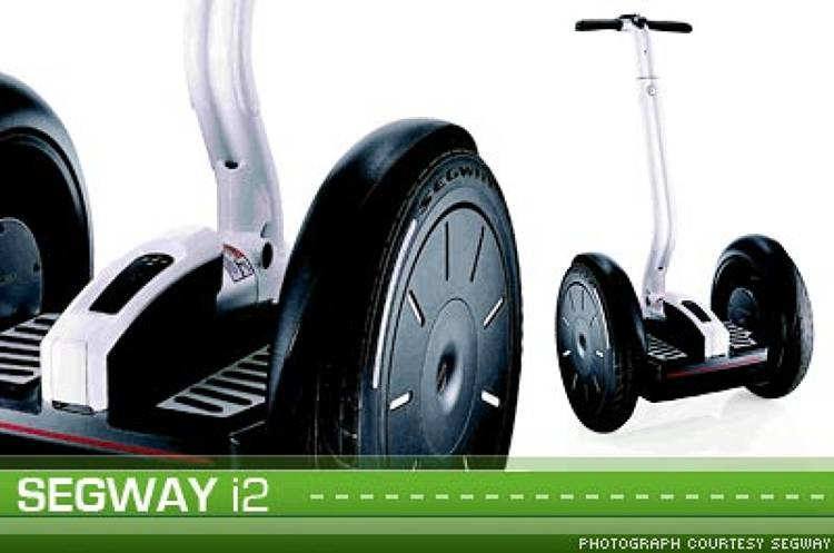 <p>The second generation Segway -- <a href=&quot;http://www.segway.com/personal-transporter/model_i2.html&quot;>Segway i2</a> -- features new technology that responds to the motion of a driver's body instead of relying on a handlebar grip for turning. Also, the latest model includes a wireless &quot;InfoKey&quot; controller that powers the vehicle and acts as a speedometer, odometer, trip computer, and battery gauge.</p>