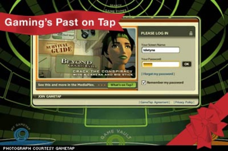 <p>Turner Broadcasting's GameTap is an online gaming service that launched October 2005 and features a library of 300 games, from Atari and Commodore 64, to Sega Genesis and newer PC titles. $15 per month. </p><p><a href=&quot;http://www.gametap.com&quot;>http://www.gametap.com</a></p>