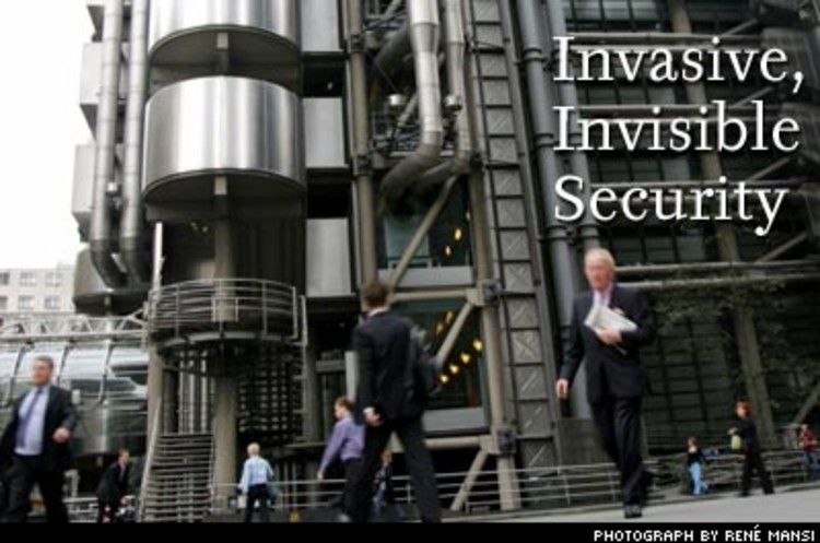 <p>Security's not just a logistics challenge; it's a design problem too. Real-estate developers are asking architects to provide the best security measures, without cluttering up the look and feel of the building. The design puzzle is to make something that's everywhere disappear. The result is a new generation of buildings designed around a paradox: invasive security that's invisible. Fortified buildings, lockdown doors, surveillance cameras, roadblocks -- all disguised and incorporated into the design through an innovative collection of tricks and optical illusions (for example, large outdoor sculptures that double as roadblocks). Does this explain those artistic cows and fish in front of office buildings?</p>