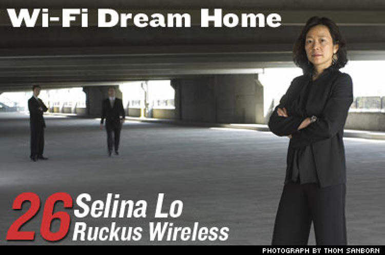 <p>Ruckus Wireless has rolled out a technology that pings voice, music, photos, even high-grade video around a home Wi-Fi network. When other appliances--or heating and lighting systems--come Wi-Fi ready, you'll be able to preheat the oven from your cell phone. One U.S. company recently ordered 15,000 Ruckus boxes. </p>