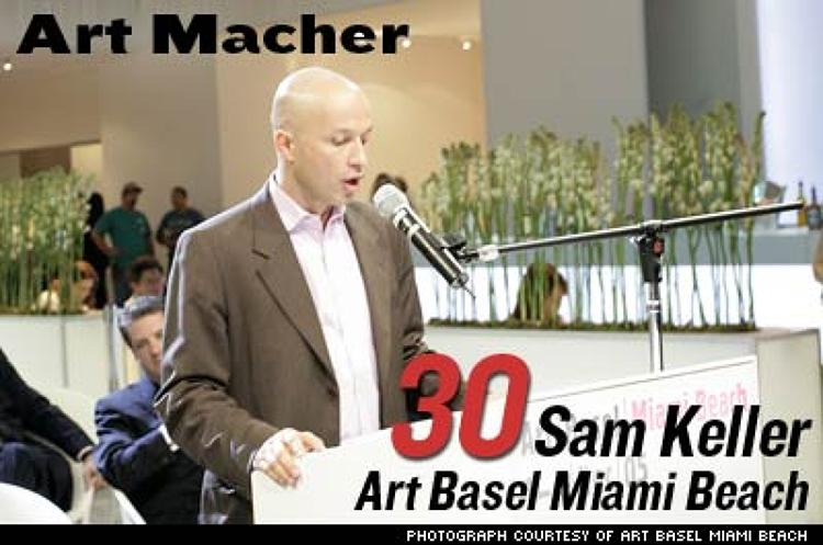 <p>Keller is the founder of Art Basel Miami Beach, a four-day bash that draws contemporary artists, critics, gallerists, and collectors. Last year they got a multimedia fiesta: 195 galleries, plus concerts, a video lounge, floats, sculptures, and performance artists. Ninety American museums, 600 art galleries, and more than 30,000 visitors showed up.</p>