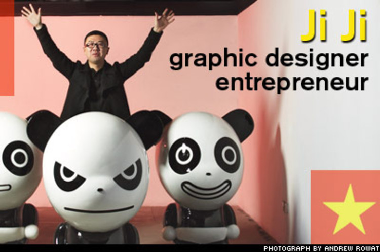 <p>A fixture on the Shanghai design circuit, Ji Ji has done brand identity work for clients such as L'Oreal and Nike--and has opened five stores in Shanghai and Beijing, to sell his own clothing designs.</p>