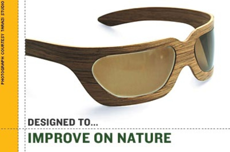 <p><strong>Designer Ezri Tarazi</strong> used to break his glasses constantly while out shooting hoops. So he made a new kind of frame by sandwiching carbon fiber between thin layers of walnut. His shades are light, flexible, and practically indestructible. <br />$550  <a href=&quot;http://www.tarazistudio.com/&quot; target=&quot;_new&quot;>www.tarazistudio.com</a></p>