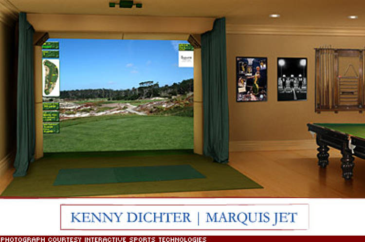 <p>&quot;A High Definition Golf simulator from Interactive Sports Technologies.&quot; Life size digital images and satellite data recreate 3-D championship courses. &quot;It's a terrific way to work on your game year-round.&quot; $39,500; <a href=&quot;http://www.istgolf.com/&quot; target=&quot;_blank&quot;>istgolf.com</a></p>