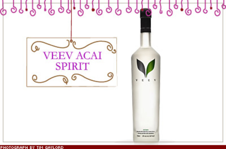<p>With enough antioxidants to trump blueberries, the Brazilian acai berry is the new superfood. Make that supercocktail: Veev is a 60-proof vodkalike liquor that also includes prickly pear, a natural hangover helper. $35; <a href=&quot;http://www.veevlife.com/&quot; target=&quot;_blank&quot;>veevlife.com</a></p>