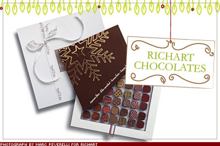 <p>When you're looking to impress, look no further than the rose-, olive-, or thyme-accented chocolates from Richart, the French chocolatier famous for using Venezuelan criollo, the finest cocoa in the world. From $61; <a href=&quot;http://www.richart-chocolates.com/&quot; target=&quot;_blank&quot;>richart-chocolates.com</a></p>