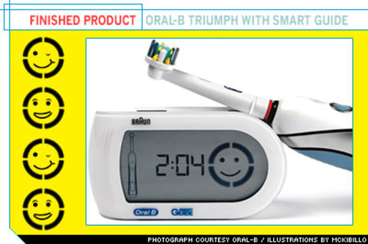 <p> Triumph With Smart Guide debuted in stores in September. All the technology doesn't come cheap -- <strong>the unit retails for $149.99</strong>. P&amp;G made a major presentation at the annual ADA convention, as part of the launch, since dentist recommendations are its best marketing. Oral-B says early sales are better than expected. </p>