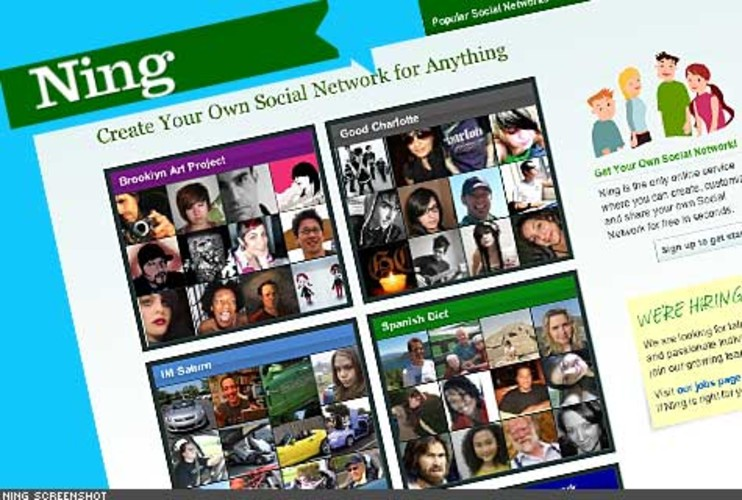 <p> Ning is not a social network, but a site where anyone can start a social network. The result is thousands of niche networks devoted to colleges, bands, games, religions, careers, or anything else you can think of. If you can't find the niche you are looking for on Ning, you can always start one. <br /> <a href=&quot;http://www.ning.com/&quot; target=&quot;_new&quot; title=&quot;Ning&quot;>http://www.ning.com/</a>  </p>