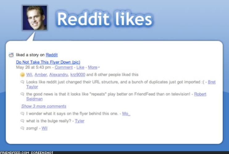 <p> Have you voted on news lately at StumbleUpon, Digg, or Reddit, or bookmarked a link on del.icio.us? FriendFeed makes it easy to share with your friends. All you have to do is give FriendFeed access to your accounts. </p>