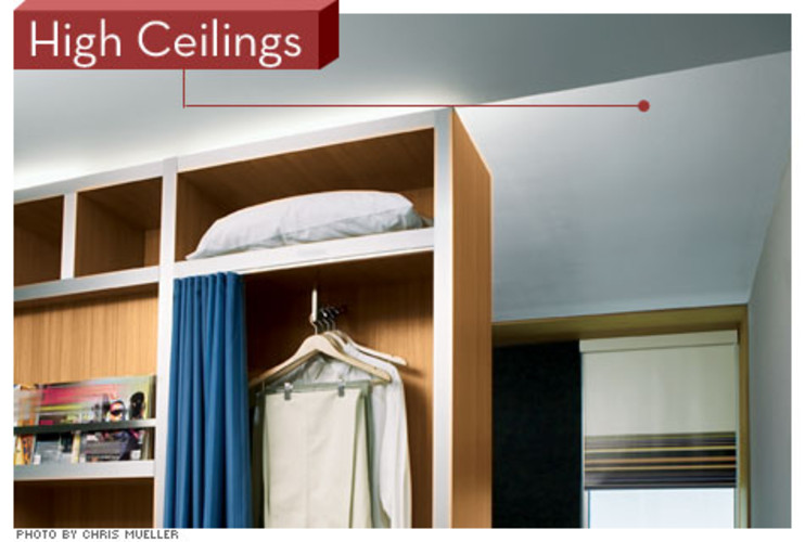 "<p> Where most competing hotels have ceilings that are 8 to 8.5 feet high, Aloft offers 9 feet. ""We learned from our W Union Square in New York, where the comment cards consistently say, 'Your rooms are larger than most hotels in the city,' "" McGuinness says. ""They're not. We just have higher ceilings.""  </p>"