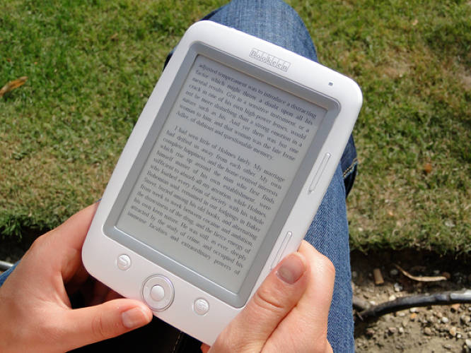 E-readers are famous for shrinking libraries--collapsing many books into one object. Also noteworthy, though, is the fact that e-readers are physically shrinking books, in some cases. At 150 grams, the Cybook Opus has bragging rights as the lightest e-reader on the market. It fits in the palm of your hand, and can hold up to 1,000 books.