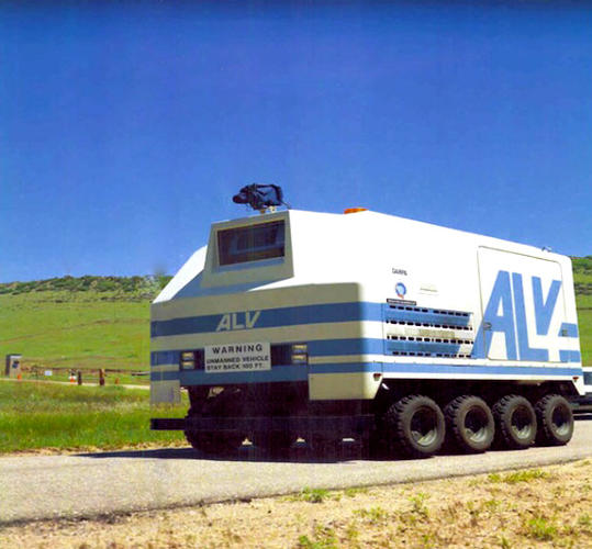 In the mid 1980's, <a href=&quot;http://www.darpa.mil/spotlight_september2009.html&quot;>DARPA's Autonomous Land Vehicle (ALV) </a> successfully completed the first road demonstration using laser radar. In 1987, the vehicle showed off the first off-road map and sensor-based autonomous navigation system, traveling across terrain containing slopes, ravines, and rocks, among other obstacles.