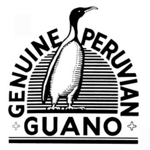 Guano is the excrement (feces and urine) of seabirds, bats, and seals. The pure stuff is the best.<br> <br> The new book  <a href=&quot;http://www.chroniclebooks.com/index/main,book-info/store,books/products_id,8682/path,1-4-23/title,American-Trademarks/ target=&quot;_blank&quot;><i>American Trademarks: A Compendium</i></a> unearths hundreds of forgotten logotypes and trademarks. Here are 11 of the quirkiest.