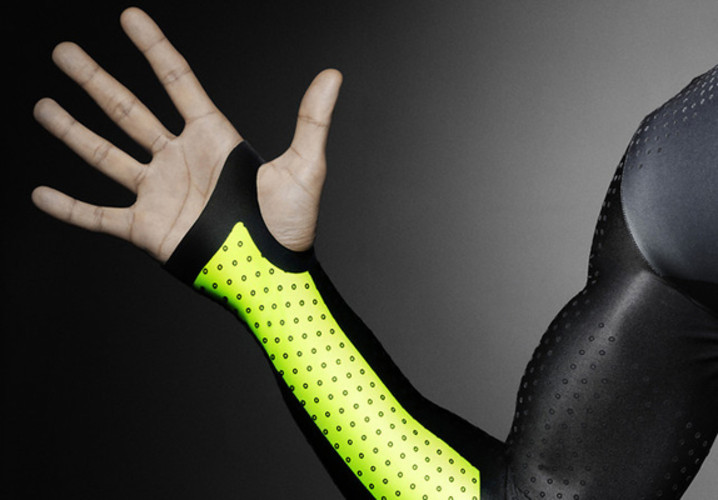 Nike's new TurboSpeed suit is made from the equivalent of 13 plastic bottles per garment. It can also make runners .023 seconds faster over 100 meters--a massive boost. </br></br> <a href=&quot;http://www.fastcodesign.com/1669741/inspired-by-golf-balls-nikes-bumpy-tracksuit-may-help-sprinters-break-records#1&quot;>Read more here</a>
