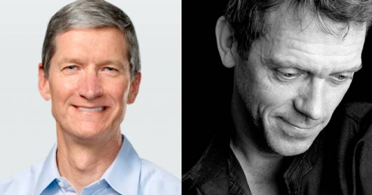Possessing great gravity and a winning smile, and confident with power. We're talking about <a href=&quot;http://www.fastcompany.com/1776013/its-all-in-the-words-steve-jobs-versus-tim-cook&quot;>Tim Cook</a>, not Hugh Laurie. But you get the point.</p>Images via Apple, <a href=&quot;http://www.sweetslyrics.com/wallpaper-hugh_laurie.html &quot;>SweetsLyrics</a>