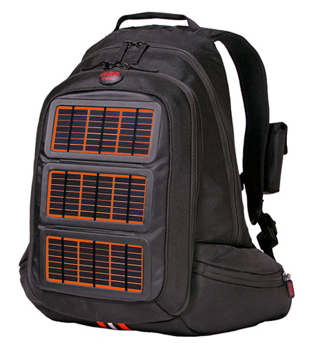 <strong>Voltaic Solar-Powered Bags</strong><br> 2008, New York City<br> <a href=&quot;http://voltaicsystems.com&quot;>Voltaic Systems</a><br><br>  Design:<br> Voltaic Systems<br> Shayne McQuade<br><br>  Lightweight, waterproof solar panels embedded into these bags can charge hand-held electronics or laptops just by taking a walk outside. A removable battery pack also stores extra unused energy that can be used when the sun goes down.