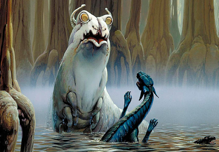 Aliens. Gotta love 'em...and/or be faintly terrified by their un-Earthly bodies and habits.</p><p> What would you do if asked to imagine the creatures that may live beneath the surface of a swamp on an alien planet? Here's Ralph's take on it in what may be concept art from Yoda's planet Dagobah.