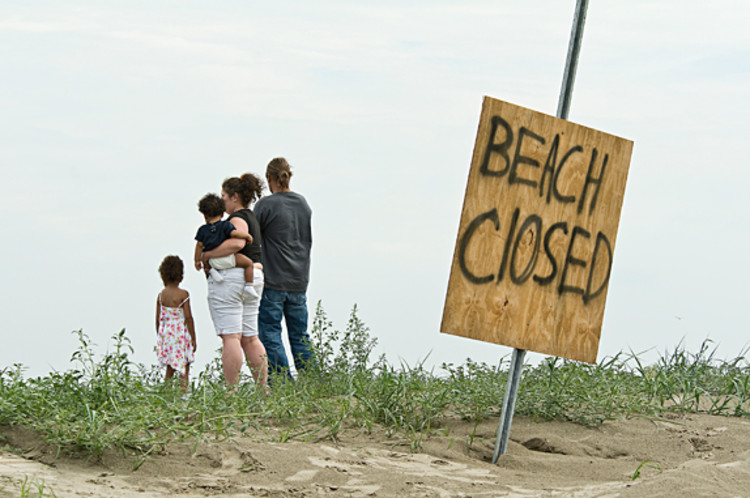 Most of the day on Sunday before Memorial Day, families stopped at the beach entrances to see for themselves why they could not get access to the water.