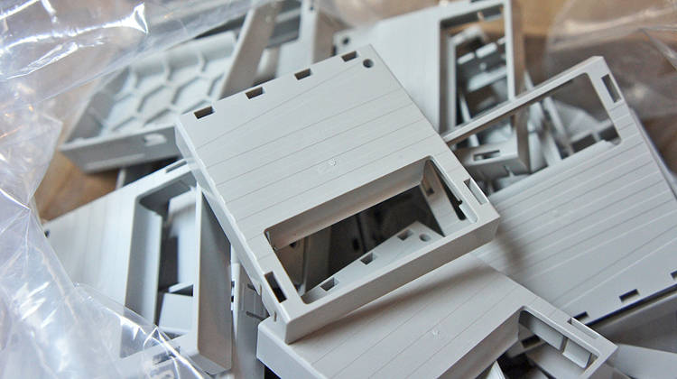 <p>Twine's gut, the part that holds its circuit board, is made of hard plastic and was easy to test with a 3-D printer before putting money down for the real deal. Kestner jokingly  says he has boxes of failure prototypes ready for the museum some day.</p>