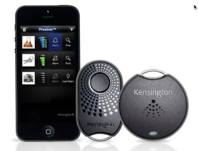 <p>Consumer electronics firm <a href=&quot;http://www.prnewswire.com/news-releases/kensington-makes-your-iphone--other-valuables-unforgettable-with-new-proximo-products--keep-track-and-get-back-items-you-cant-afford-to-lose-185998462.html&quot; target=&quot;_blank&quot;>Kensington</a> has leaped aboard the Bluetooth Smart bandwagon with a whole range of products that can help you find your valuables and, conversely, your smartphone. Each dongle is customizable, and you can tweak the sensitivity of the dongle (higher for critical stuff, we guess). A partner app helps you find the tags--and thus, your stuff--by showing the signal strength.</p>