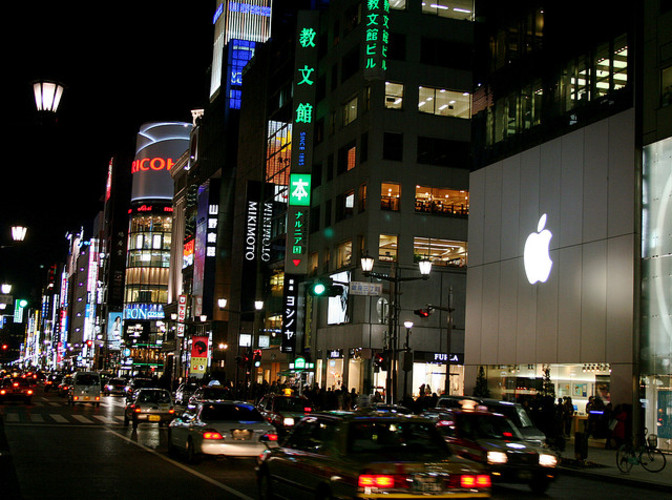 <p>You know how some owners look like their dogs? Well most Apple stores look like the firm's products. Here's a big Apple logo amidst the bright lights of Tokyo. [<em>Image by Flickr user <a href=&quot;http://www.flickr.com/photos/london/354832197/sizes/z/in/photostream/&quot; target=&quot;_blank&quot;>jonrawlinson</a></em>]</p>
