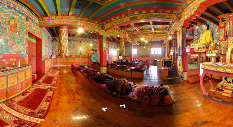 <p>The Google team made it inside this beautiful Tibetan monastery, Tengboche, for a nice cup of tea and a sit-down during their Himalayan excursions.</p>