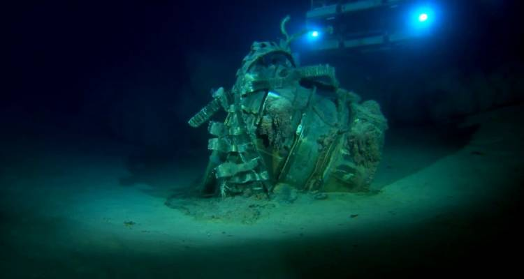 <p>Another piece of space history is approached by an ROV.</p>