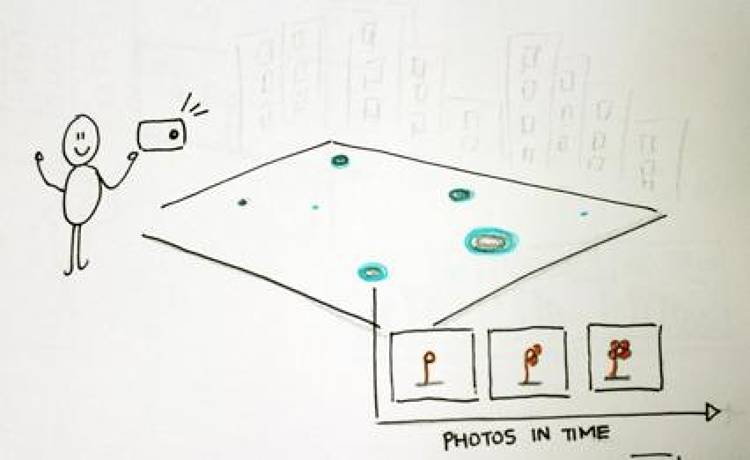 <p>The FLIPR project started out at Avea Labs, who explores how a mobile carriers can use technology to better engage people with their city. This sketch from the MIT lab's drawing board was the genesis for FLIPR.</p>