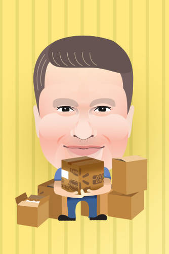 <p><strong>Doug McMillon</strong><br /> <em>CEO of Walmart International</em><br /> Unloaded boxes in a Walmart warehouse</p>