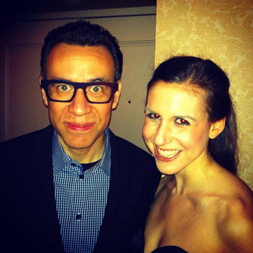 <p>Ex-SNL-er Fred Armisen strikes a pose with Callie Schweitzer.</p>  <p>All photos from <a href=&quot;http://instagram.com/cschweitz/&quot; target=&quot;_blank&quot;>Callie Schweitzer's Instagram account</a>.</p>