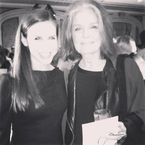 <p>Schweitzer with Gloria Steinem.</p>  <p>All photos from <a href=&quot;http://instagram.com/cschweitz/&quot; target=&quot;_blank&quot;>Callie Schweitzer's Instagram account</a>.</p>