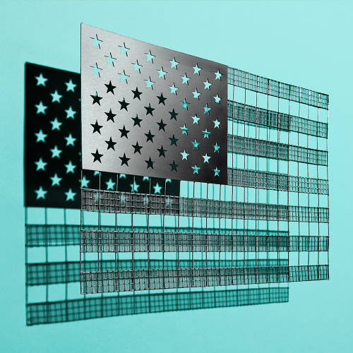 <p>Flag sculpture by Kyle Bean</p>