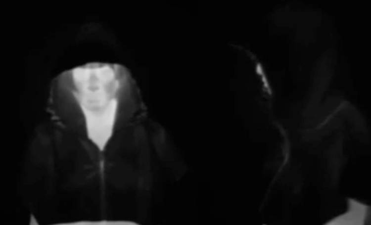 <p>The Stealth Hoodie in action, seen through an infrared camera.</p>